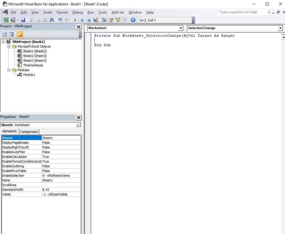 Fig5 Procedure list box