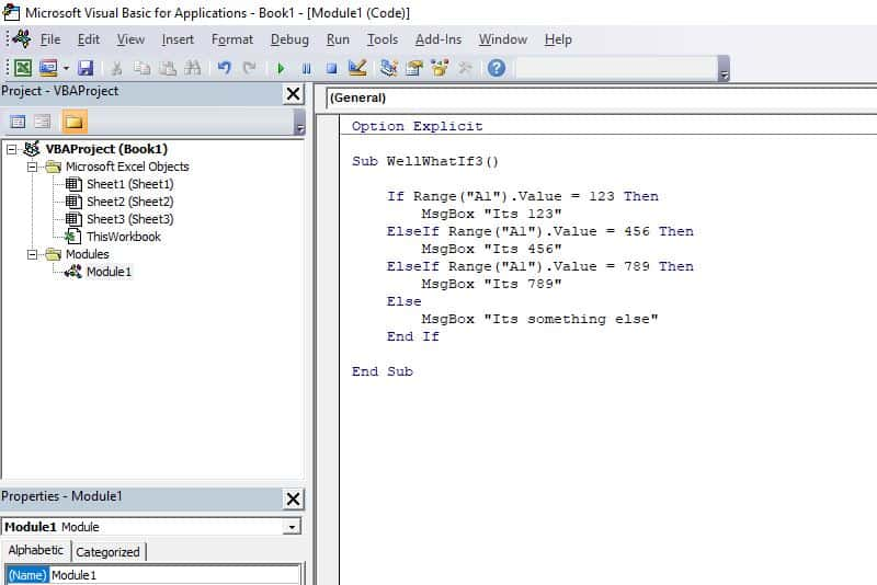 Excel VBA programming concepts - If Then Else More