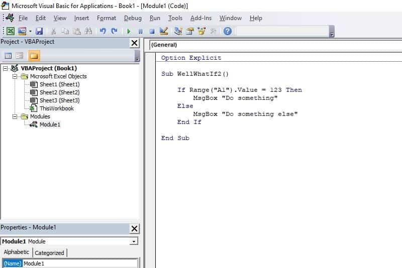 Excel VBA programming concepts - If Then Else