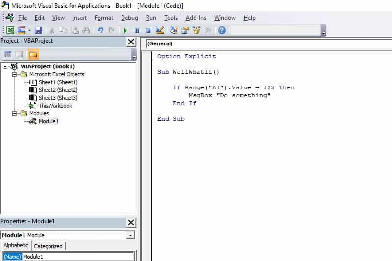 Excel VBA programming concepts - If Then
