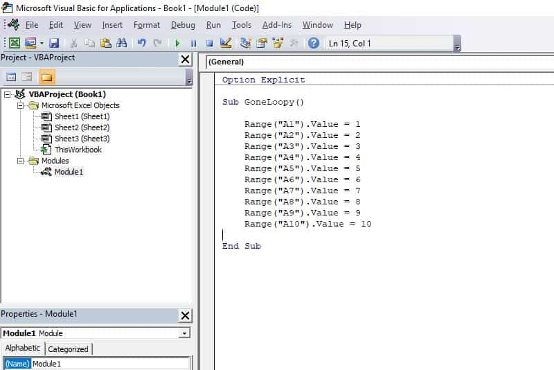 Excel VBA programming concepts - Repetitive Code
