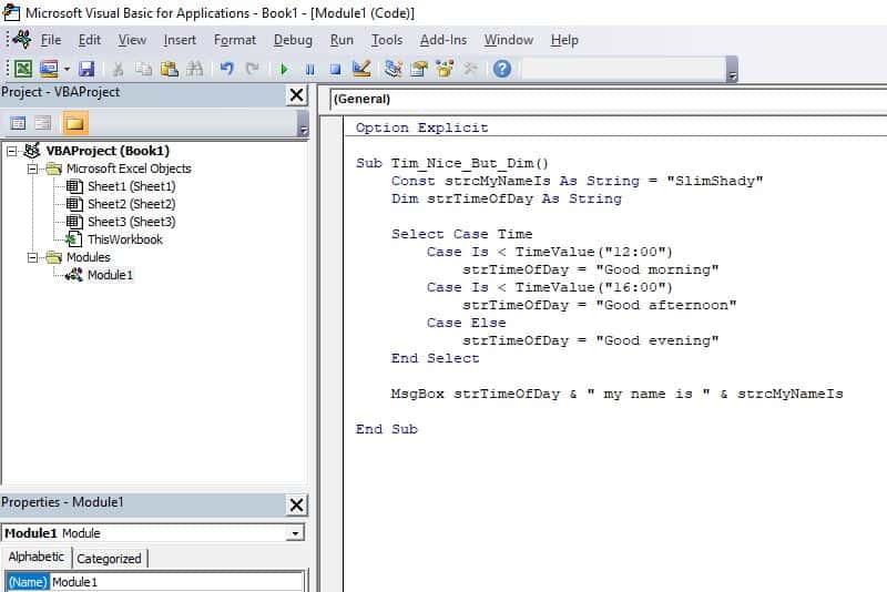 Excel VBA programming concepts - Declaring Variables