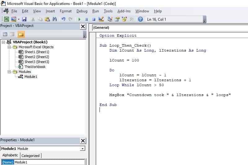 Excel VBA programming concepts - Do Loop2