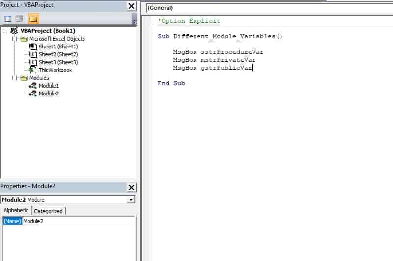 Excel VBA programming concepts - Variable Scope2