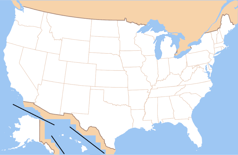 quickly learn 50 us states and capitals - us map without state labels